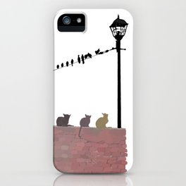 Cats and Birds iPhone Case