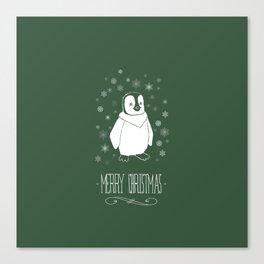 Christmas - Penguin Canvas Print