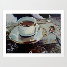 Fancy Coffee Art Print