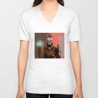 samus V-neck T-shirts featuring Samus by NBSoTACHi