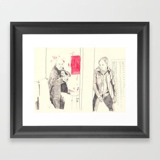 Motel scene from Drive Framed Art Print
