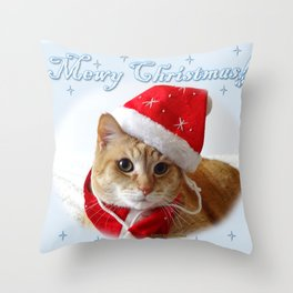 Mewy Christmas! Throw Pillow