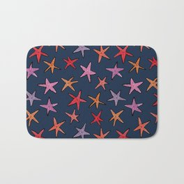 Starfishes in deep ocean Bath Mat