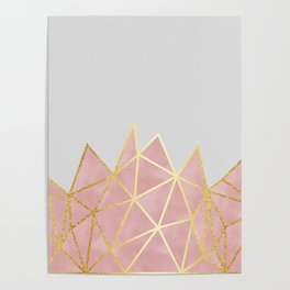 Pink & Gold Geometric Poster