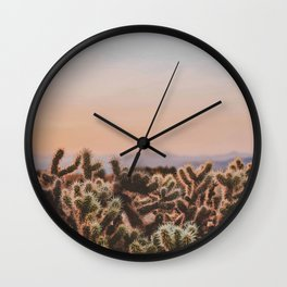 Desert Sunset V / Joshua Tree, California Wall Clock