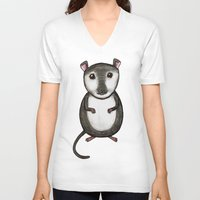 gemma correll V-neck T-shirts featuring Gemma the Gerbil by Studio 8107
