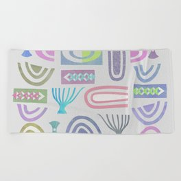 Pale bits Beach Towel