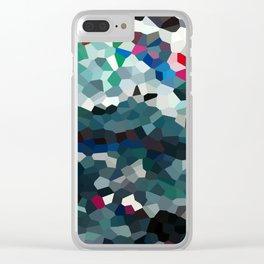 Emerald Sea Green Moon Love Clear iPhone Case
