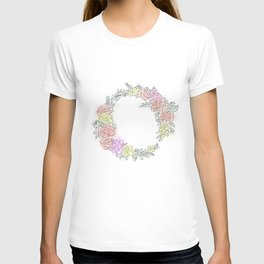 Friday fresh collection , pastel colors flowers . Home decor T-shirt