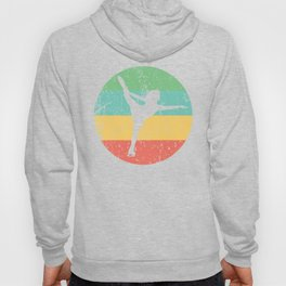 Figure Skating Vintage Retro Figure Skater Hoody