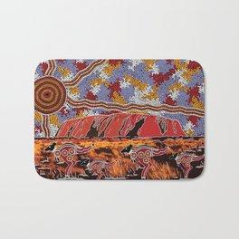 Uluru (Ayers Rock) Authentic Aboriginal Art Bath Mat
