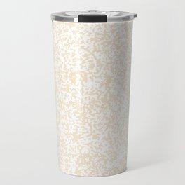 Tiny Spots - White and Champagne Orange Travel Mug