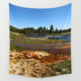 Firehole River Colors Wall Tapestry