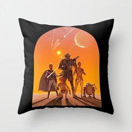 Space Opera Concept Throw Pillow
