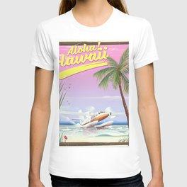 Aloha! Hawaii vintage travel poster. T-shirt