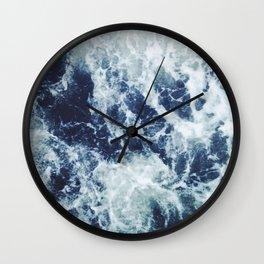 Dark blue Ocean Wall Clock