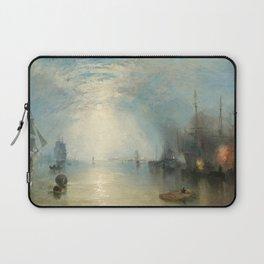 """J.M.W. Turner """"Keelmen Heaving in Coals by Moonlight"""" Laptop Sleeve"""