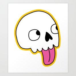 Blep Skull Art Print