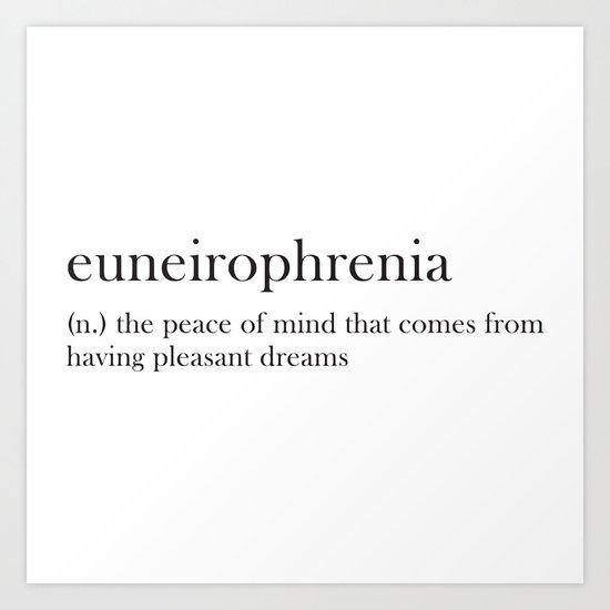 euneirophrenia Art Print