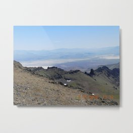 road trip, 2nd look, killer view, mountains, expanded view of same pic. Metal Print