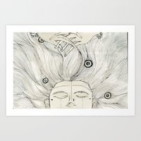 Sleep during the day up at night. Art Print