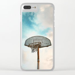 basketball hoop 8 Clear iPhone Case