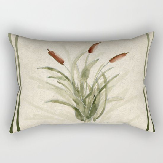 cattails 2 Rectangular Pillow