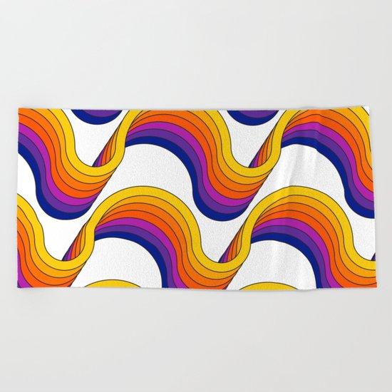 Rainbow Ribbons Beach Towel
