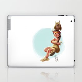 Litte Owl Girl Laptop & iPad Skin