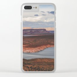 Cutting Through Lake Powell Clear iPhone Case
