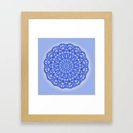 Blue Doodles & Bits Framed Art Print