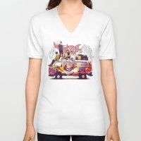 "karu kara V-neck T-shirts featuring "" ON THE ROAD AGAIN "" by Karu Kara"