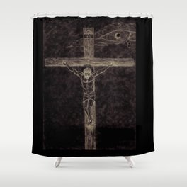 I preach Christ & Christ Crucified Shower Curtain