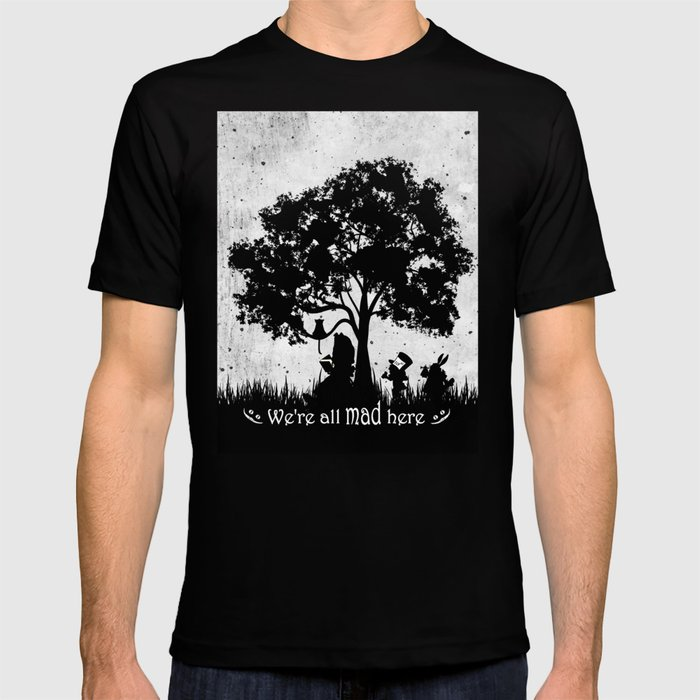 35202f704841fd We re all mad here alice in wonderland silhouette art shirt jpg 700x700 Art  tshirts