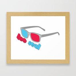 3D Glasses Framed Art Print