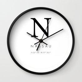 25North Nassau Wall Clock