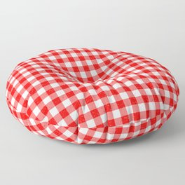 Gingham Red and White Pattern Floor Pillow