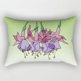 Purple Fuchsias Rectangular Pillow