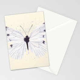 Small Cabbage White Butterfly Stationery Cards