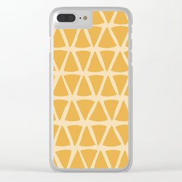 Orange Triangle seamless pattern, from the Orange Blossom Pattern Collection Clear iPhone Case