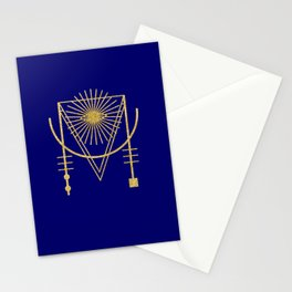 Sacred Geometry Letter M Stationery Cards
