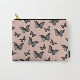 Black Pale Terracotta Butterfly Glam #1 #pattern #decor #art #society6 Carry-All Pouch