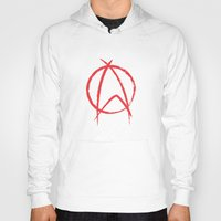 anarchy Hoodies featuring Federation Anarchy by The Cracked Dispensary