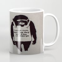 banksy Mugs featuring Banksy  by Ashley Griswold Photography