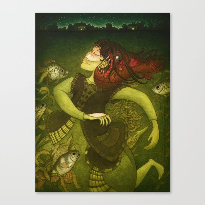 Deep-sea fish Canvas Print
