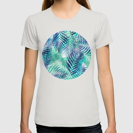 Palm Leaves - Indigo Green T-shirt