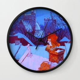 Christmas over Trondheim Wall Clock