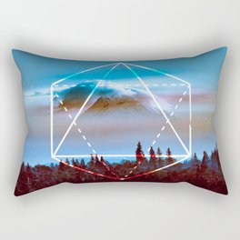 The Elements Geometric Nature Element of Air Rectangular Pillow
