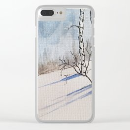 Winter Birches Clear iPhone Case