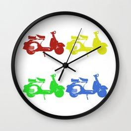 Italian scooter Wall Clock